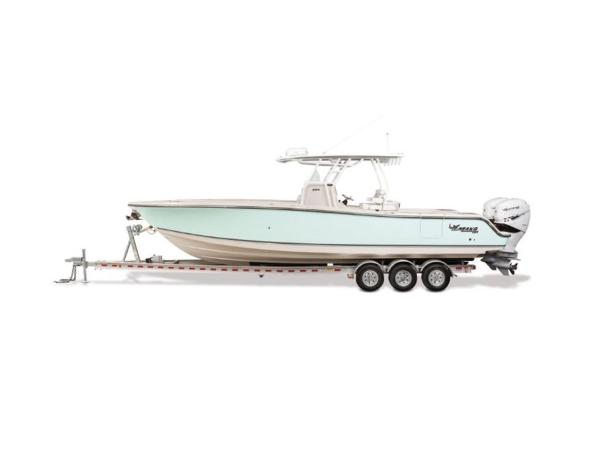 2020 Mako boat for sale, model of the boat is 334 CC & Image # 3 of 5