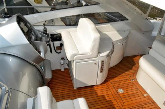 View of helm from sunroof