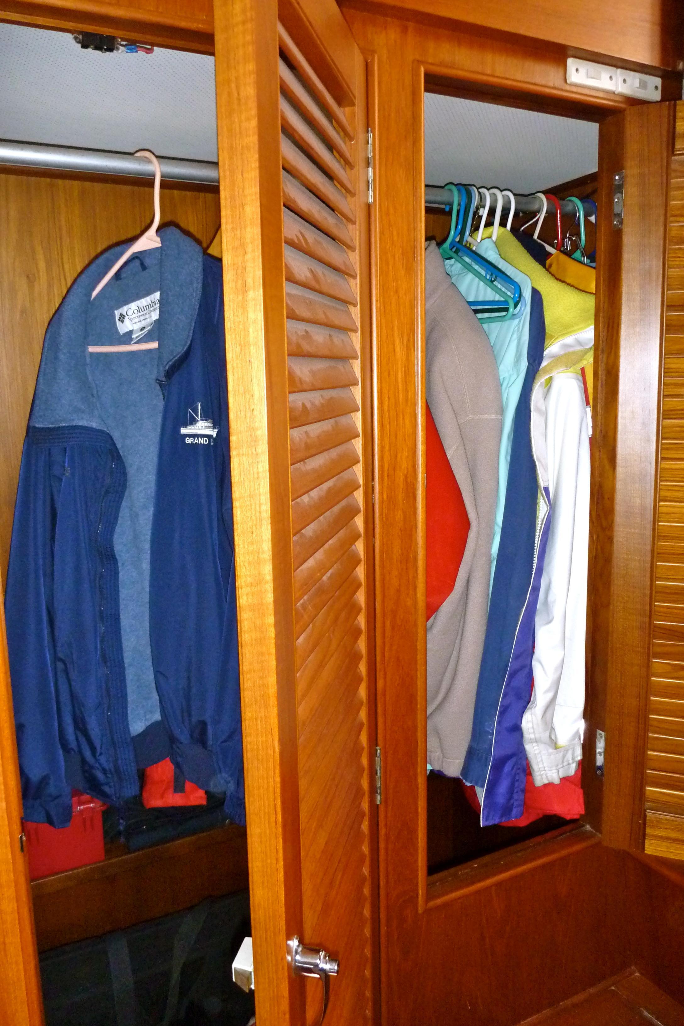 Hanging locker in Aft stateroom