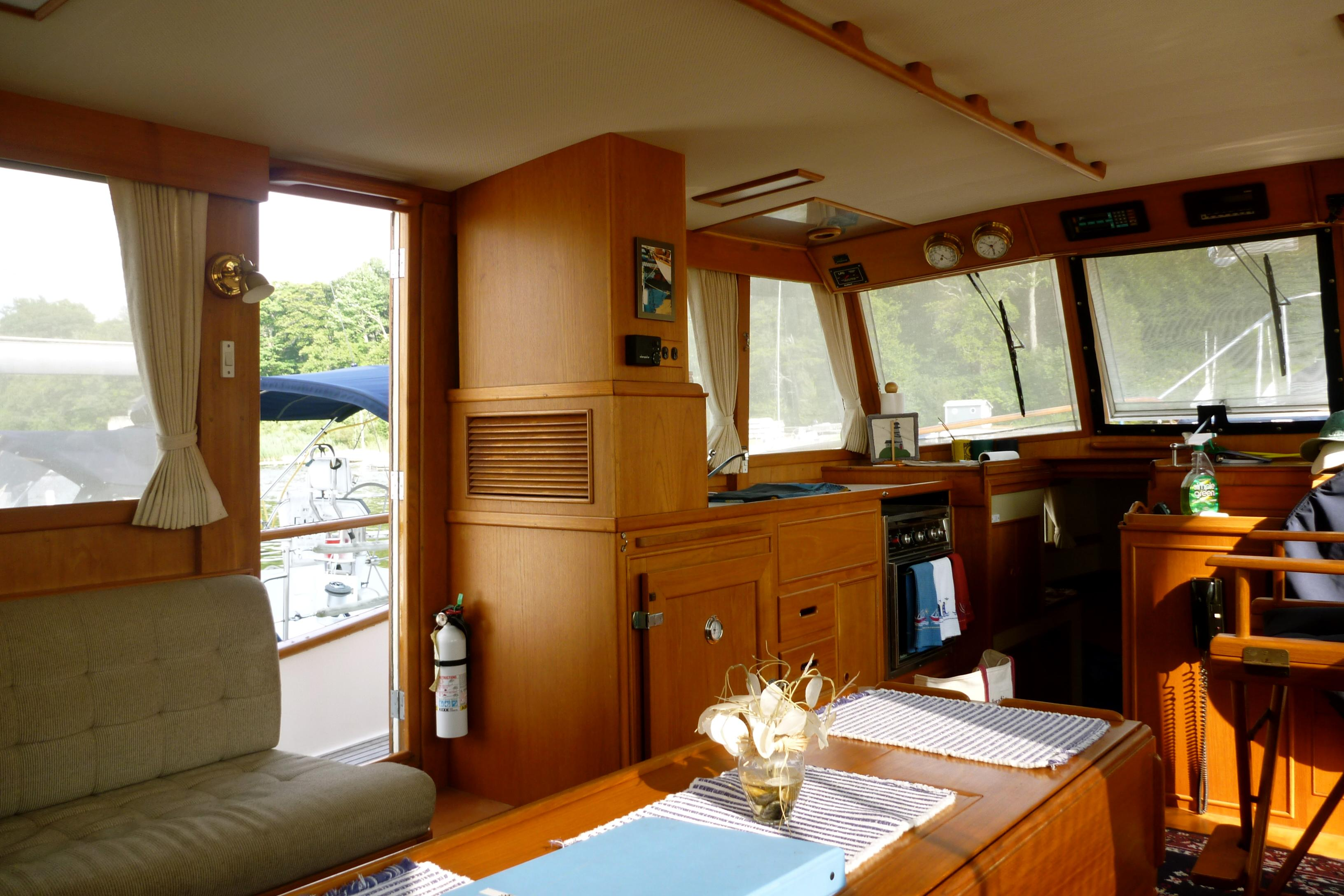 Cabin with port side access.
