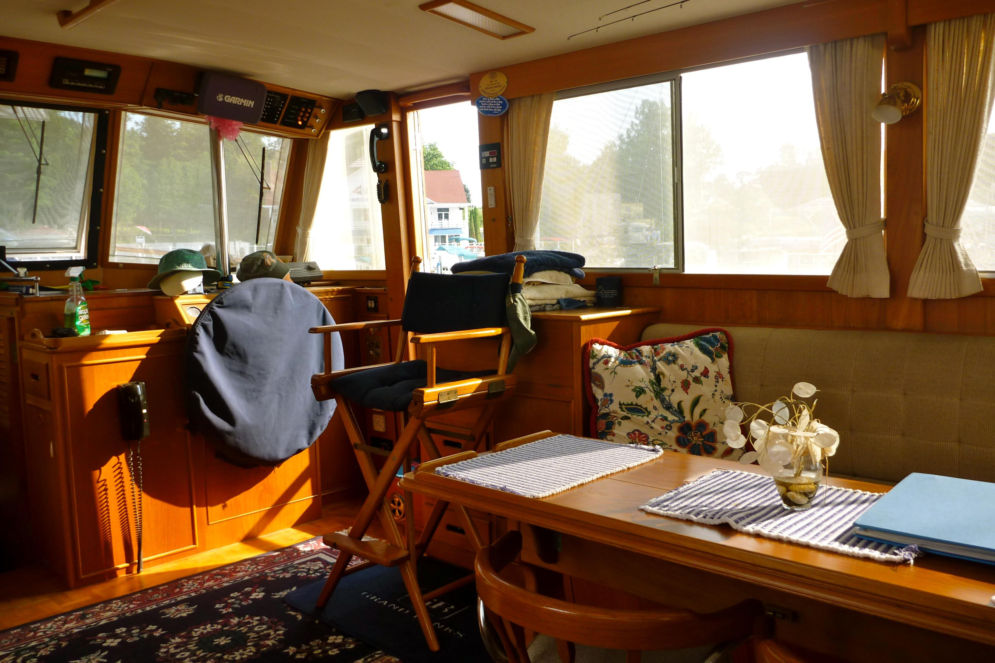 Cabin looking forward at helm
