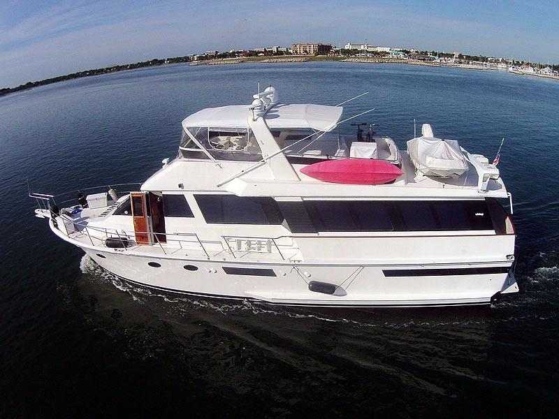 1989 Viking Yachts Wide Body Motor Yacht For Sale