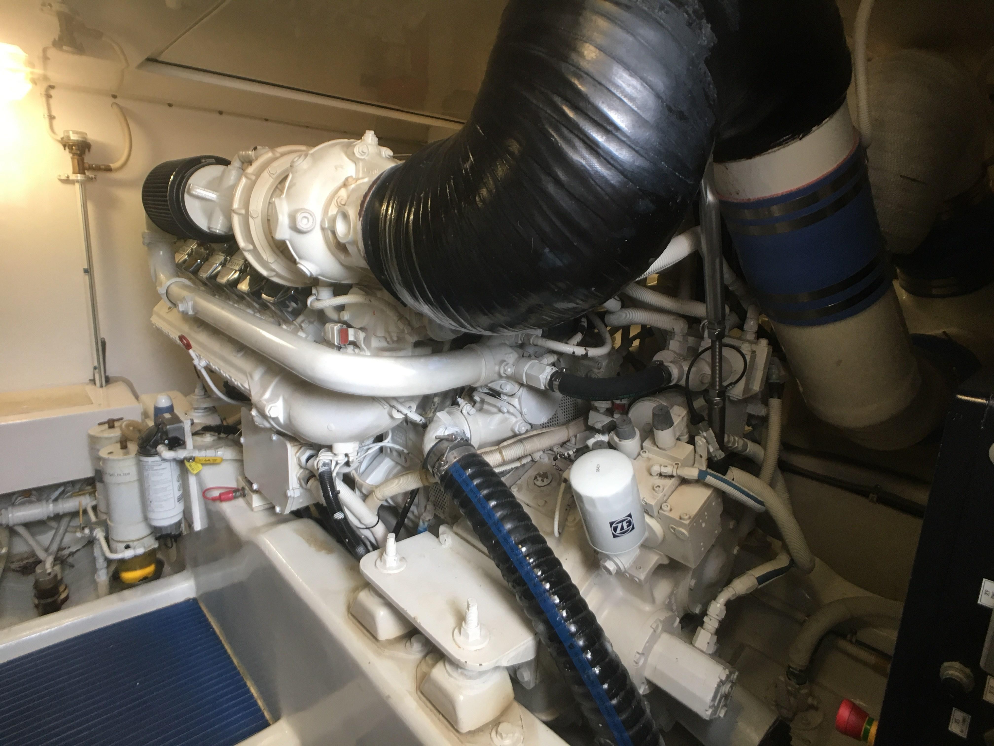 Bertram 510 Engine Room