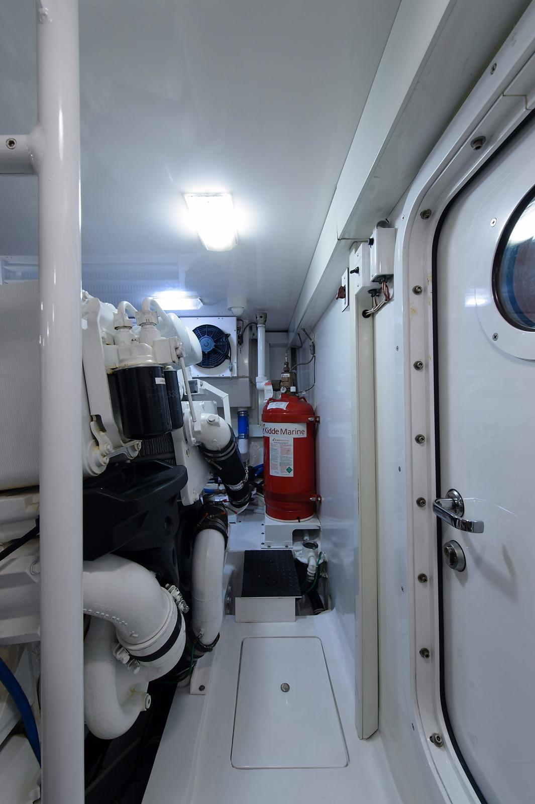 Trawler Engine Room: Cookie Monster Viking Yachts 2007 Enclosed Flybridge 74