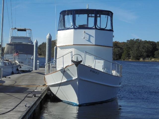 Custom 36 Yukon Trawler - Bow Shot
