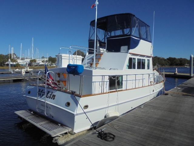 Custom 36 Yukon Trawler - Aft Quarter Shot