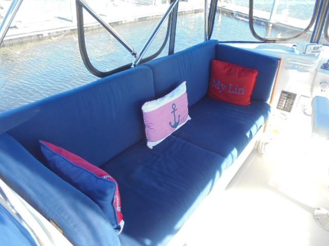 Custom 36 Yukon Trawler - Flybridge Lounge Seating to Port
