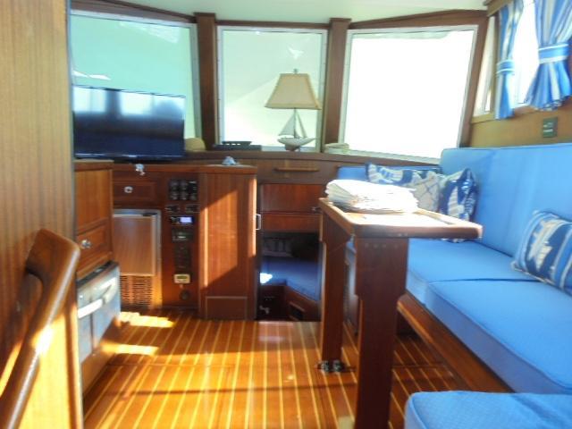 Custom 36 Yukon Trawler - Salon looking forward