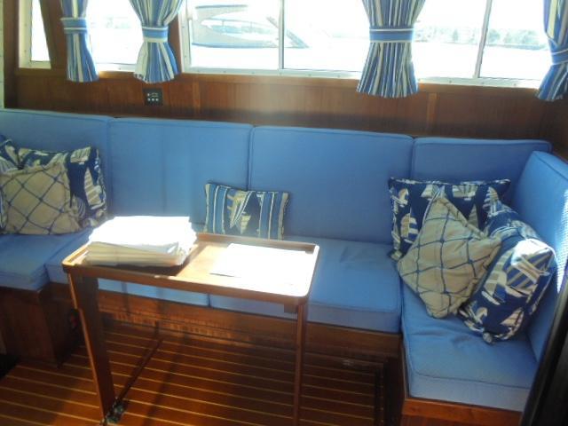 Custom 36 Yukon Trawler - Built-in Salon Seating w/storage below