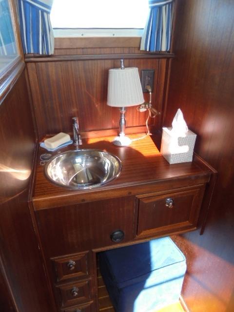 Custom 36 Yukon Trawler - Vanity in Master Stateroom