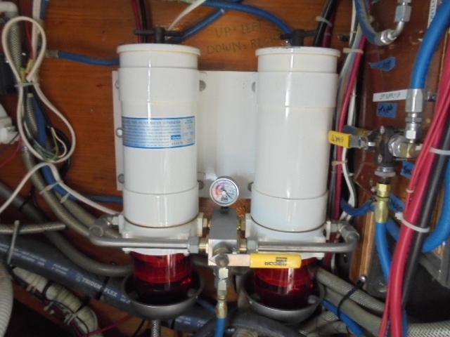 Custom 36 Yukon Trawler - Double Racor Fuel Filters for Engine