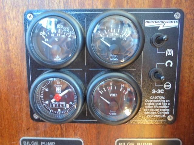 Custom 36 Yukon Trawler - Generator Gauges