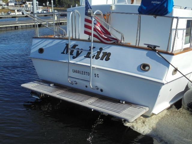 Custom 36 Yukon Trawler - Swim Platform/St. Croix Davit
