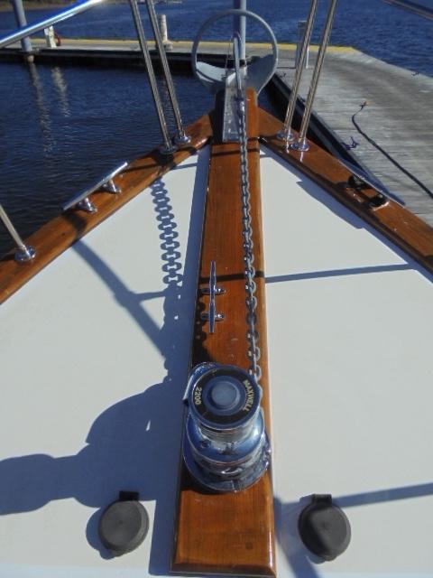 Custom 36 Yukon Trawler - Windlass with foot controls