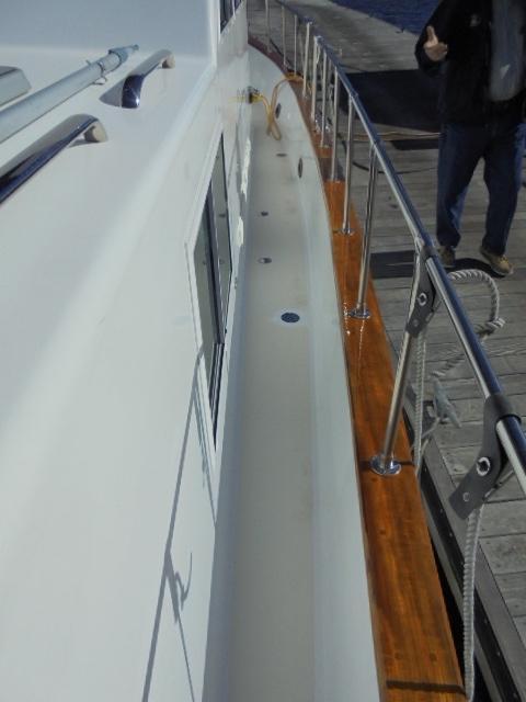 Custom 36 Yukon Trawler - Sidewalk Starboard Side