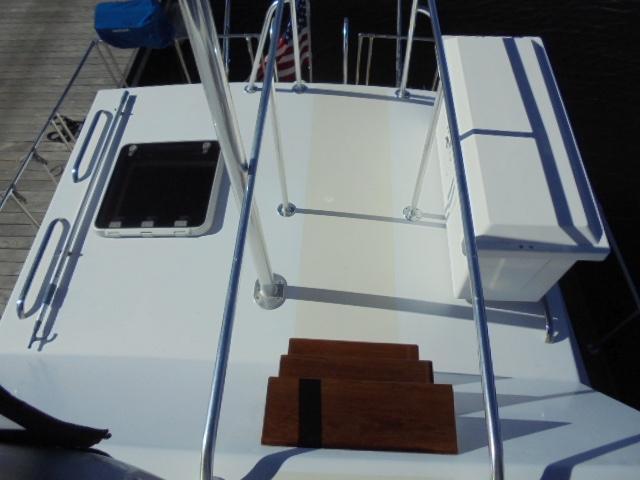 Custom 36 Yukon Trawler - Companionway from Aft Deck to Bridge