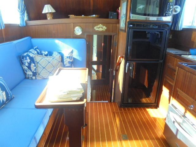 Custom 36 Yukon Trawler - Salon Looking Aft