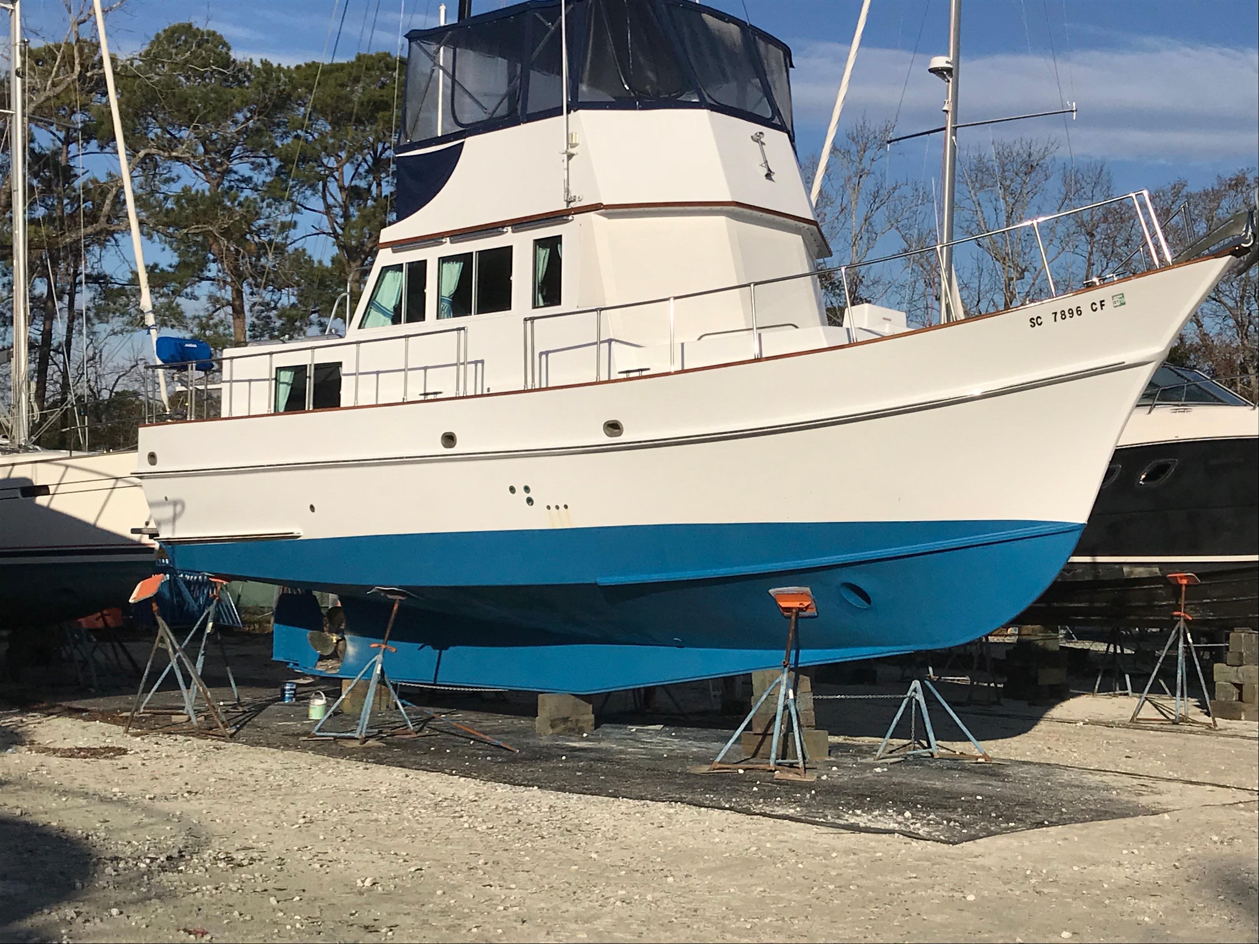 Custom 36 Yukon Trawler - Fresh Bottom Paint Jan 2018