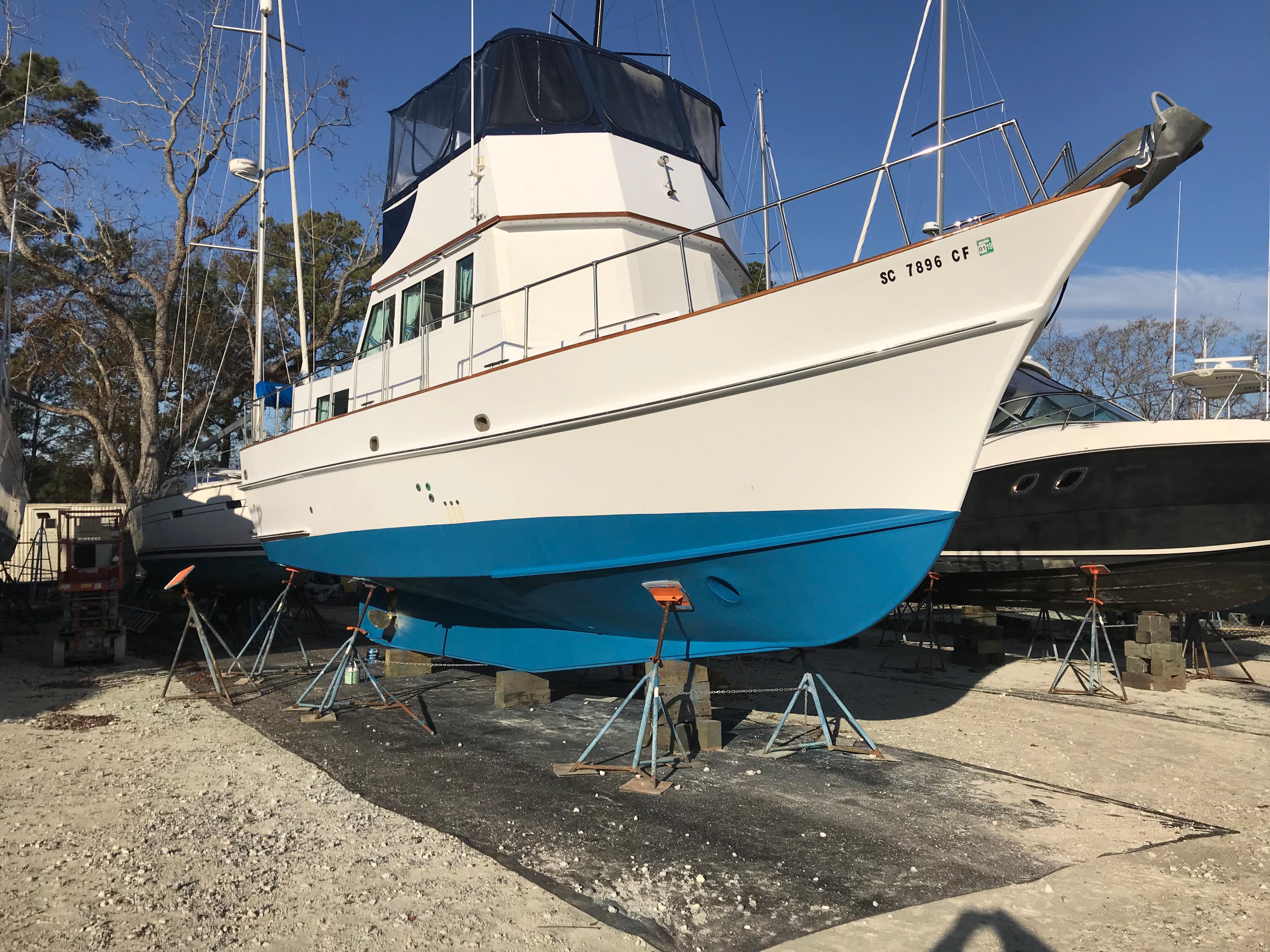 Custom 36 Yukon Trawler - On the Hard