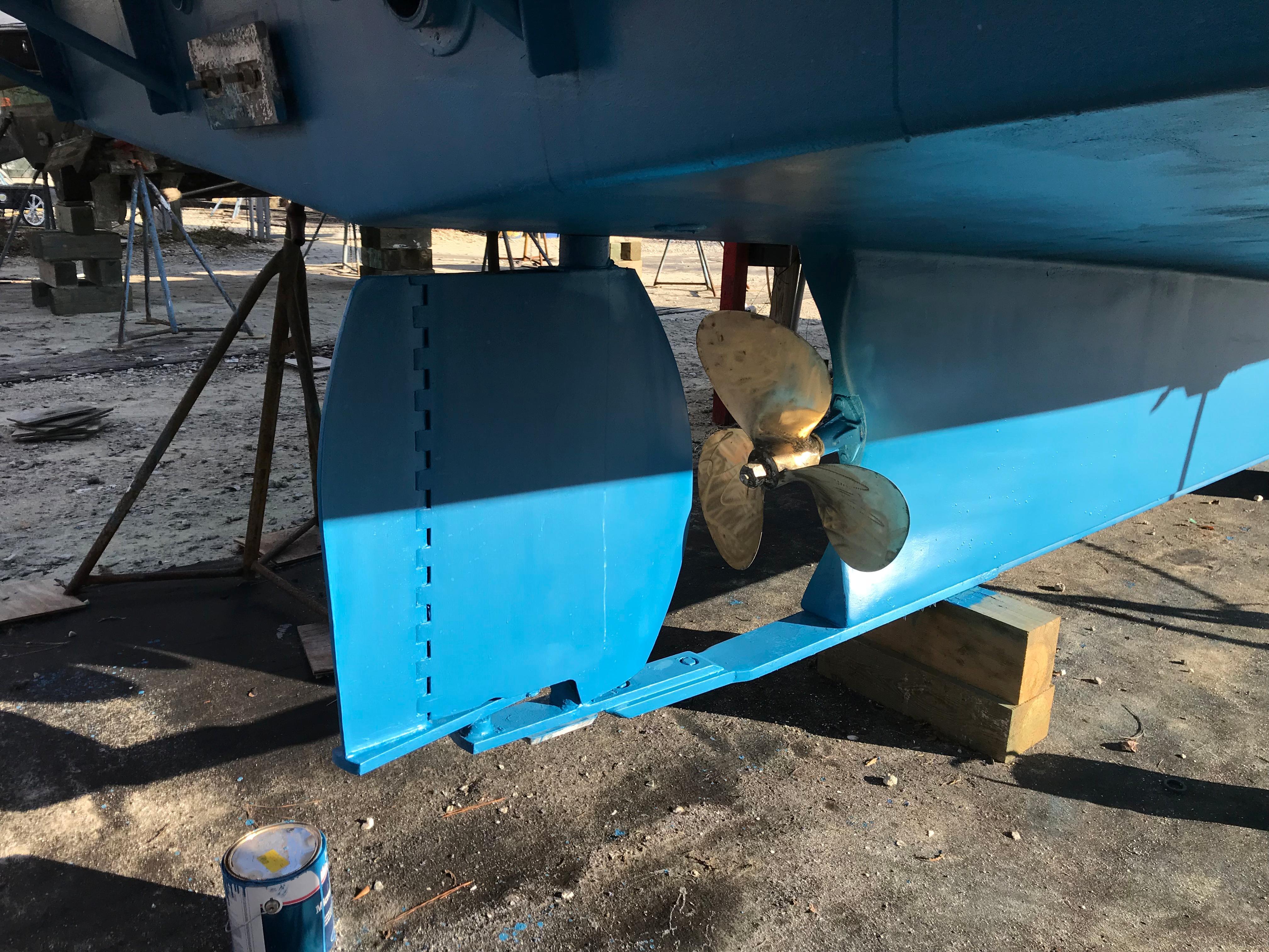 Custom 36 Yukon Trawler - 2 Stage custom Rudder