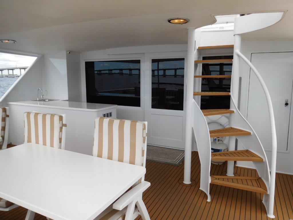 Aft Deck Staircase to Flybridge