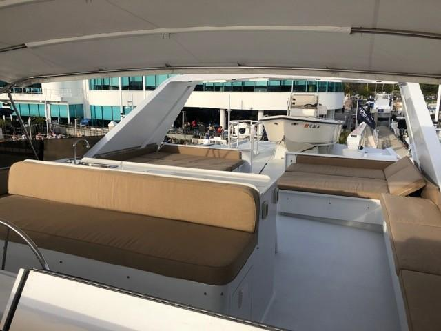 Flybridge - looking aft from Helm