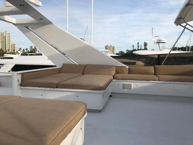 Flybridge - aft seating and sun lounge port