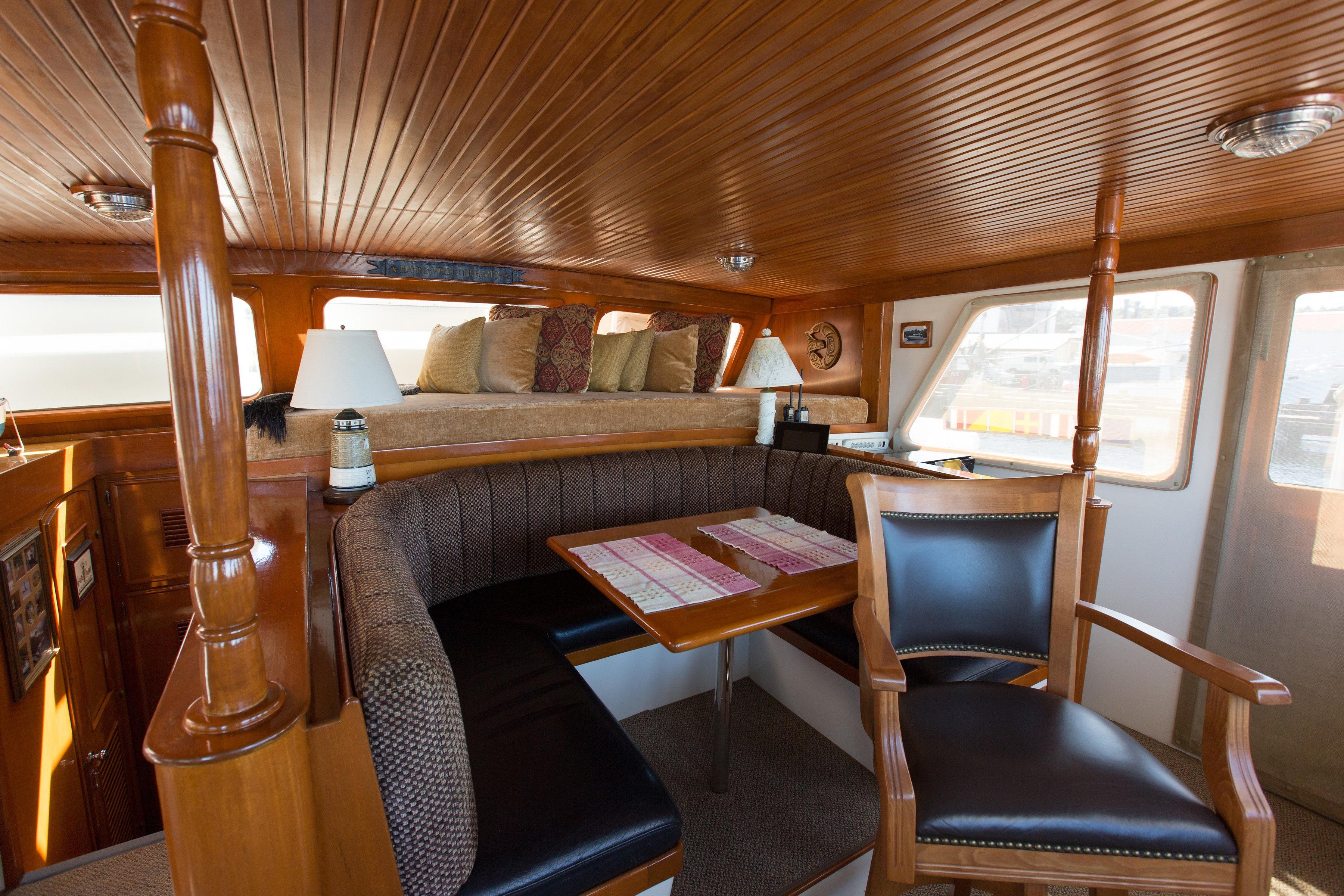 Another shot of seating behind helm