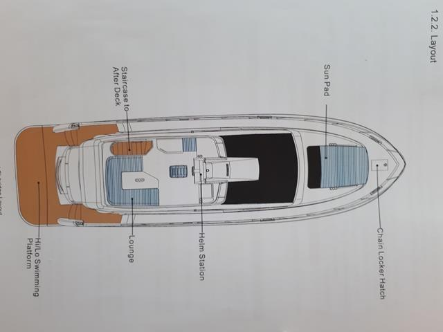Horizon E56 Flybridge Layout