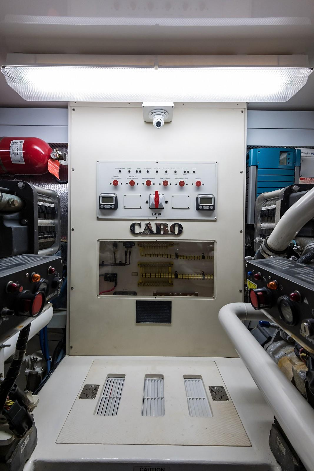 52 Cabo Engine Room