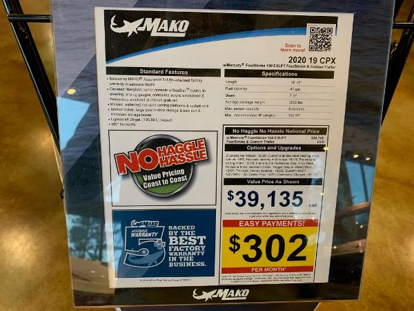 2020 Mako boat for sale, model of the boat is 19 CPX & Image # 15 of 16