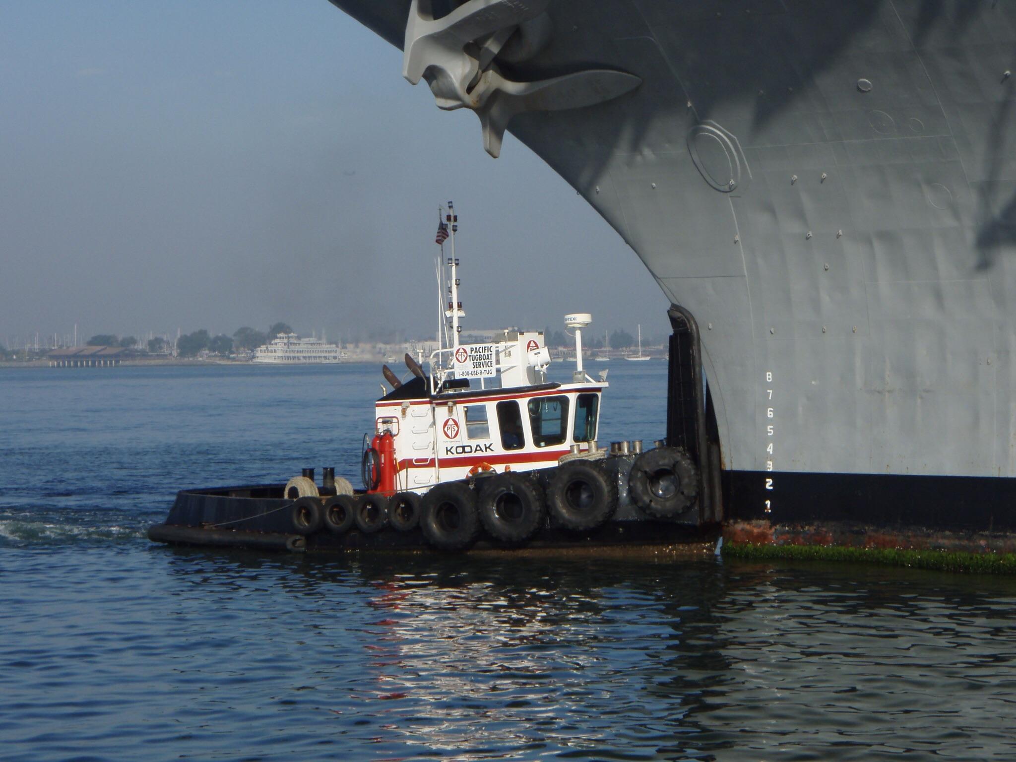 Commercial Boat Tug. Boat