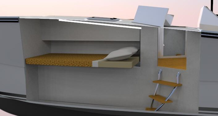 Cabin with berth