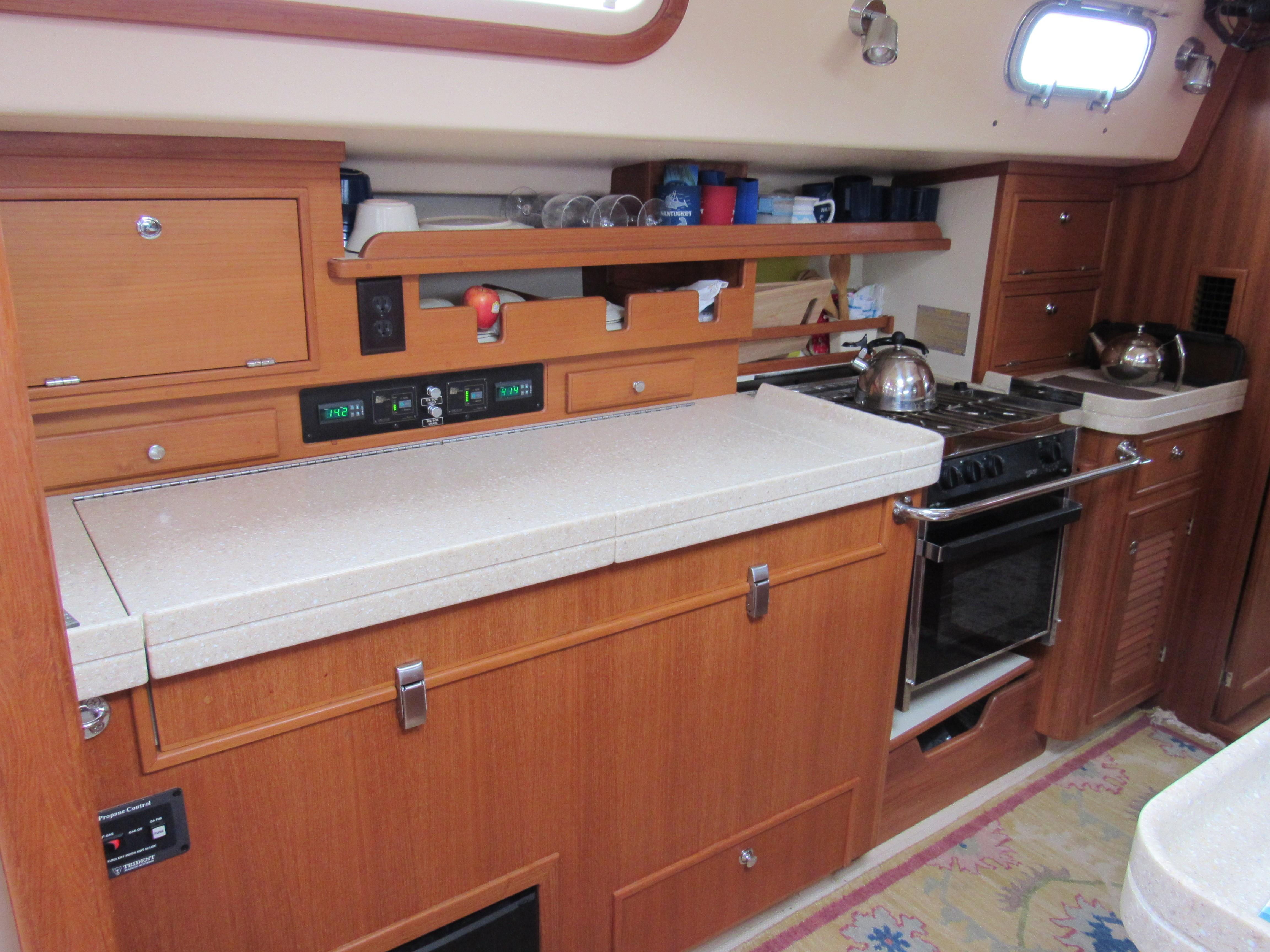 Plenty of galley counter space