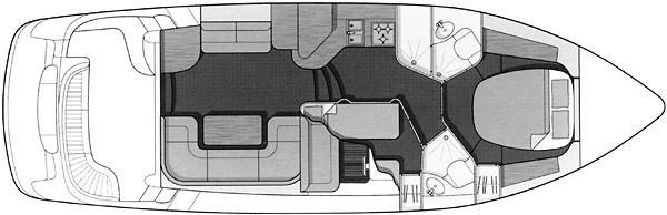 Sealine F44 Flybridge - Manufacturer Provided Image: F44 - cabin arrangement