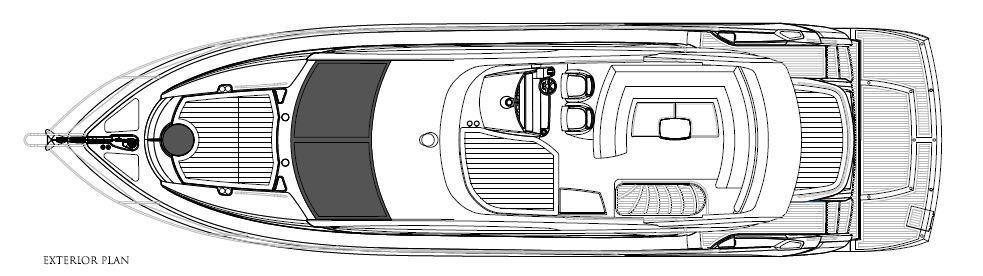 Manufacturer Provided Image: Sunseeker Mahattan 53 Exterior Layout Plan