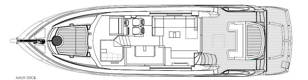 Manufacturer Provided Image: Sunseeker Mahattan 53 Main Deck Layout Plan