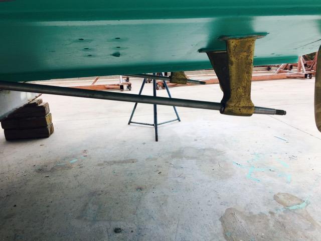 Fresh Bottom Paint after Sandblasting 2015