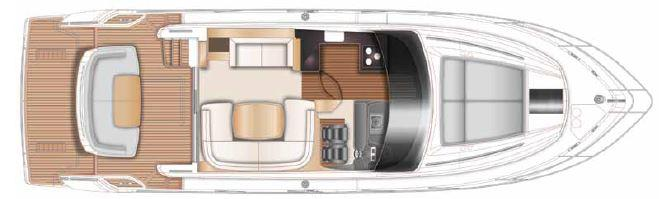 Manufacturer Provided Image: Princess Flybridge 43 Motor Yacht Upper Deck Layout Plan