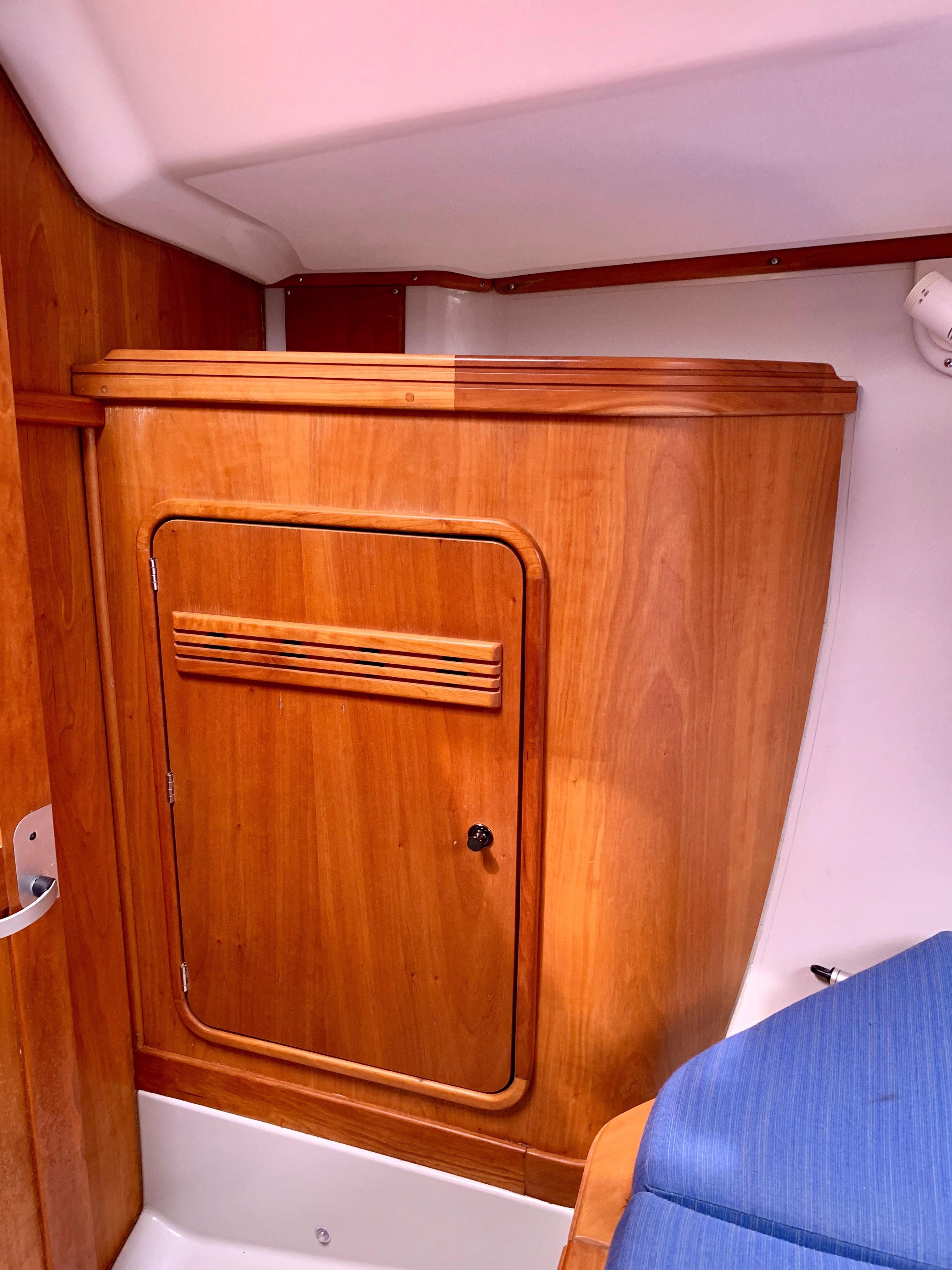 40 ft C&C 121 Forward Berth Port Hanging Locker