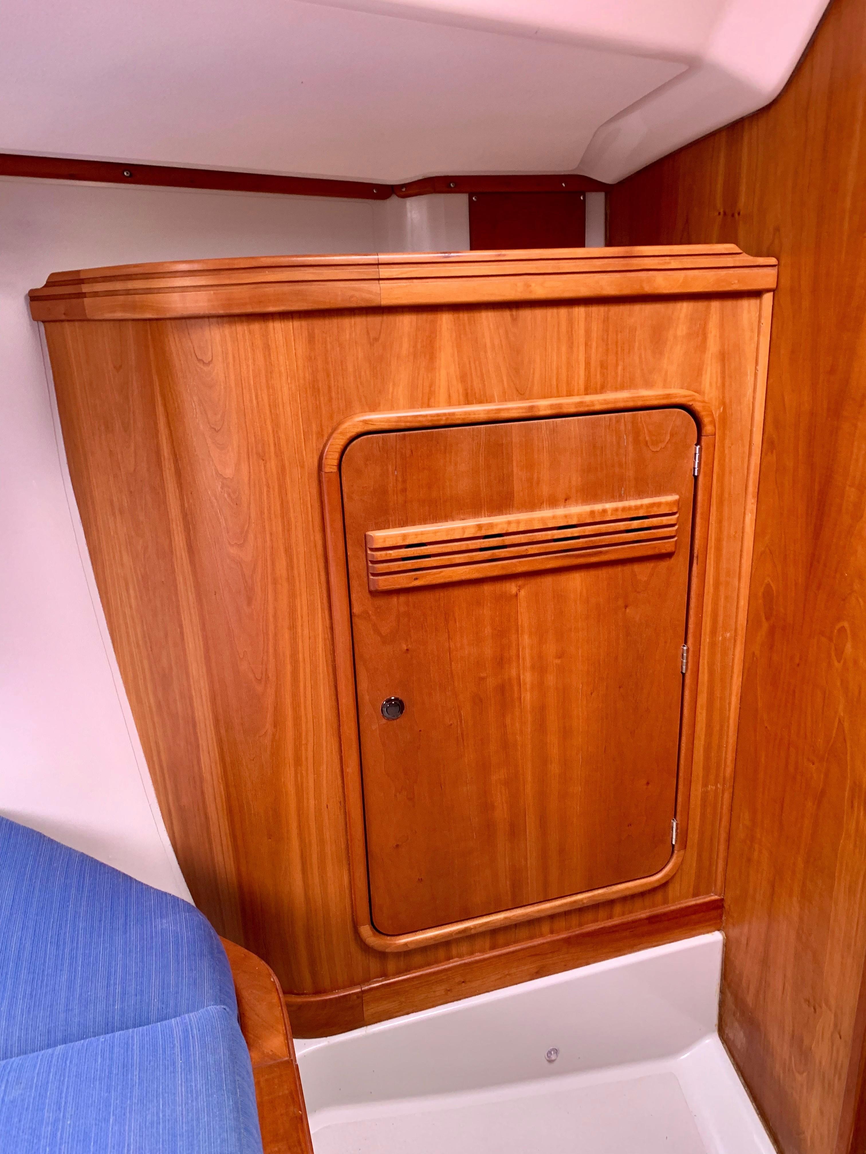 40 ft C&C 121 Forward Berth Starboard Hanging Locker
