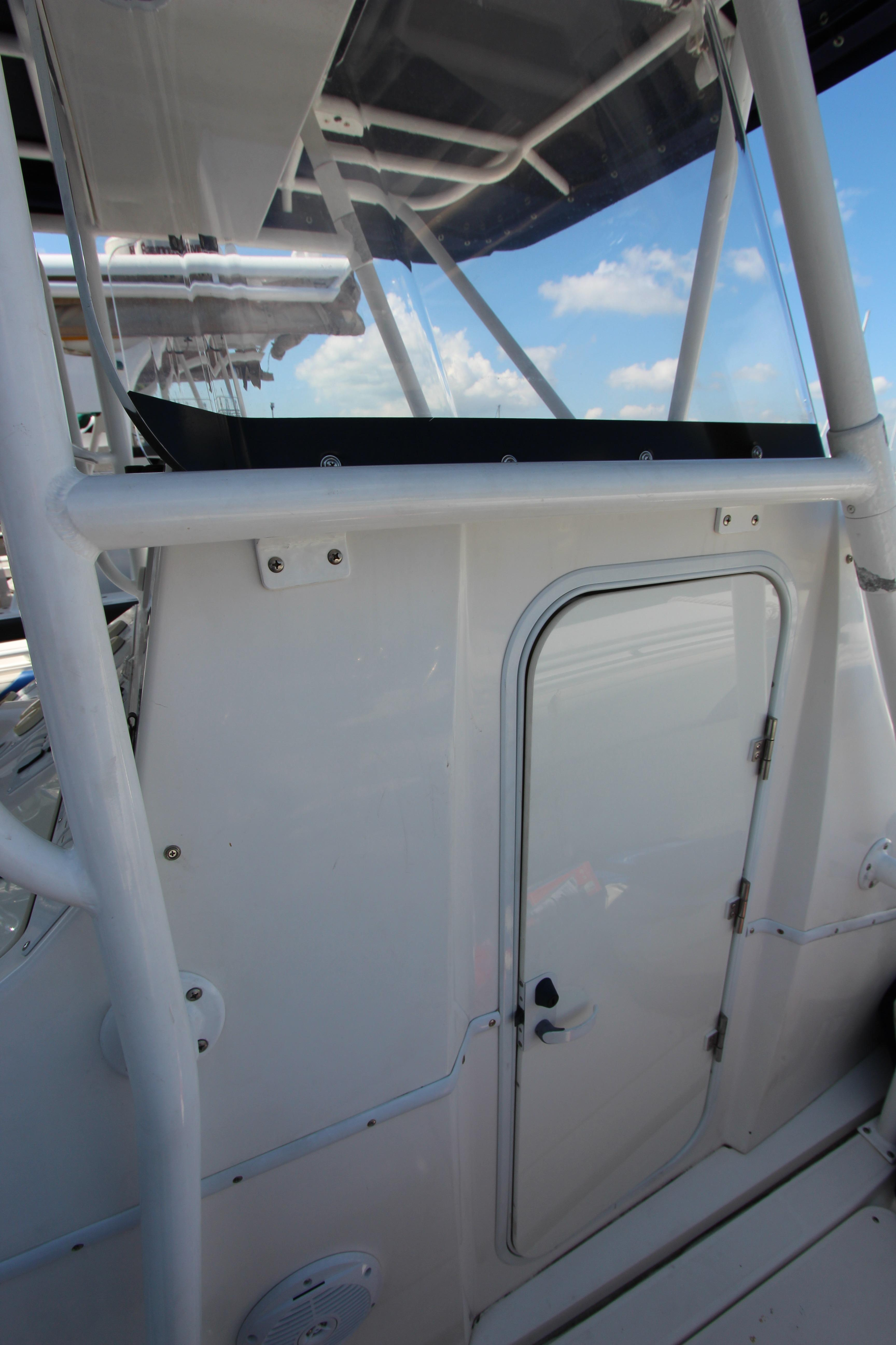 Starboard side entrance to heads