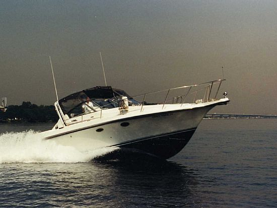 The Rodmaster is a 33' Trojan 10 Meter International Express Sportfishing .