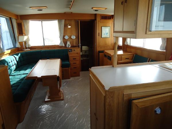Salon looking aft from galley