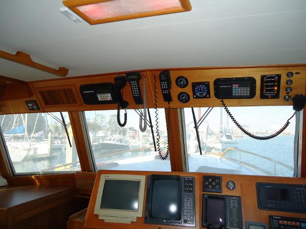 Additional electronics above helm