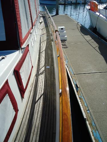 Sidedeck looking aft