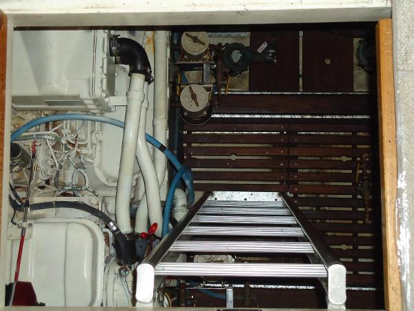 Engine room entry from galley