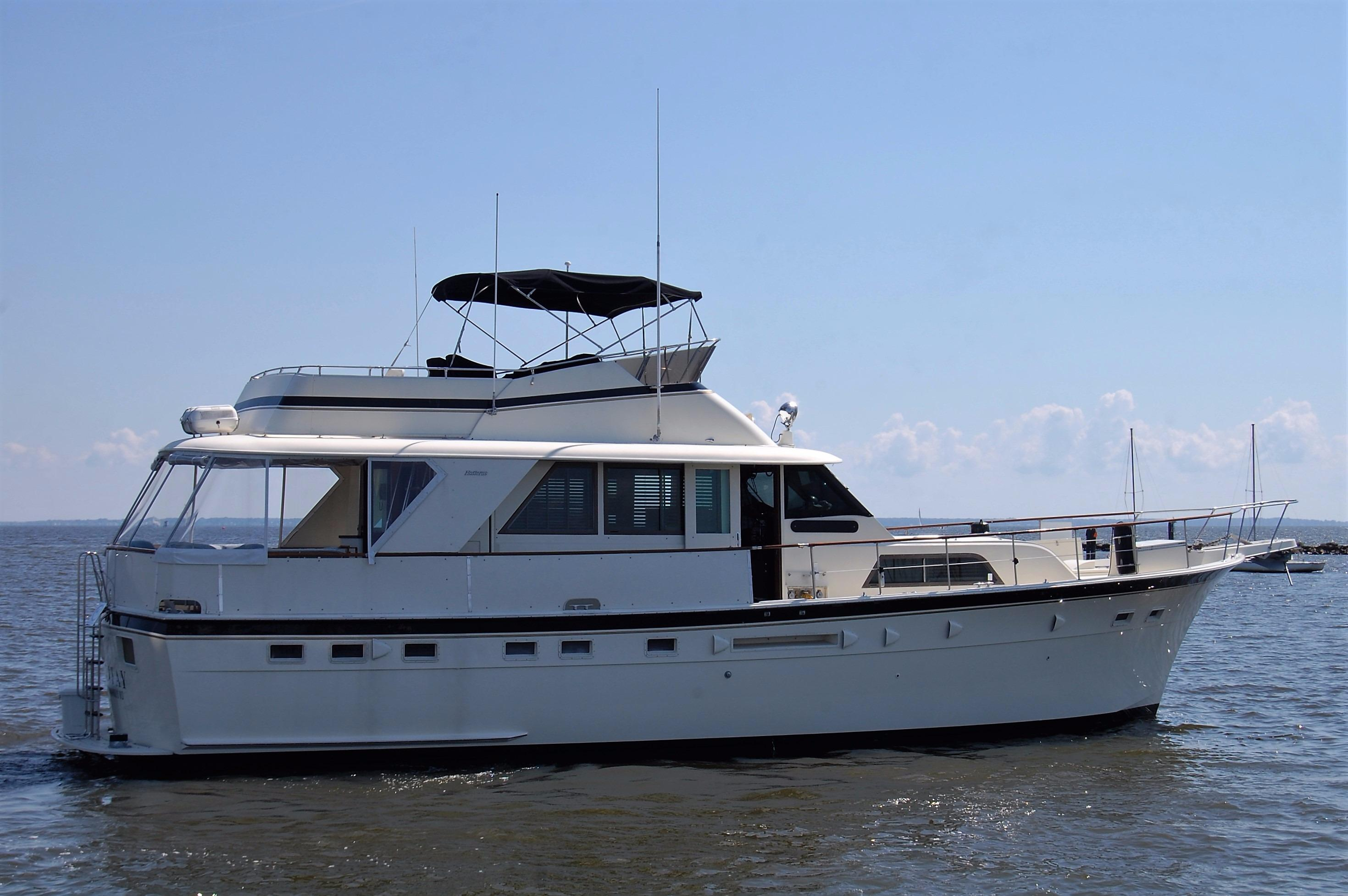 Used hatteras yachts for sale from 50 to 60 feet for Large motor yachts for sale