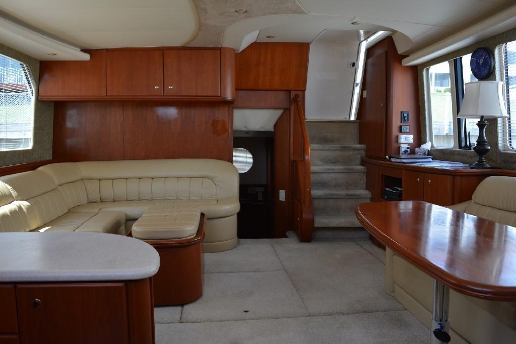 Silverton 43 Motor Yacht - Salon Facing Aft