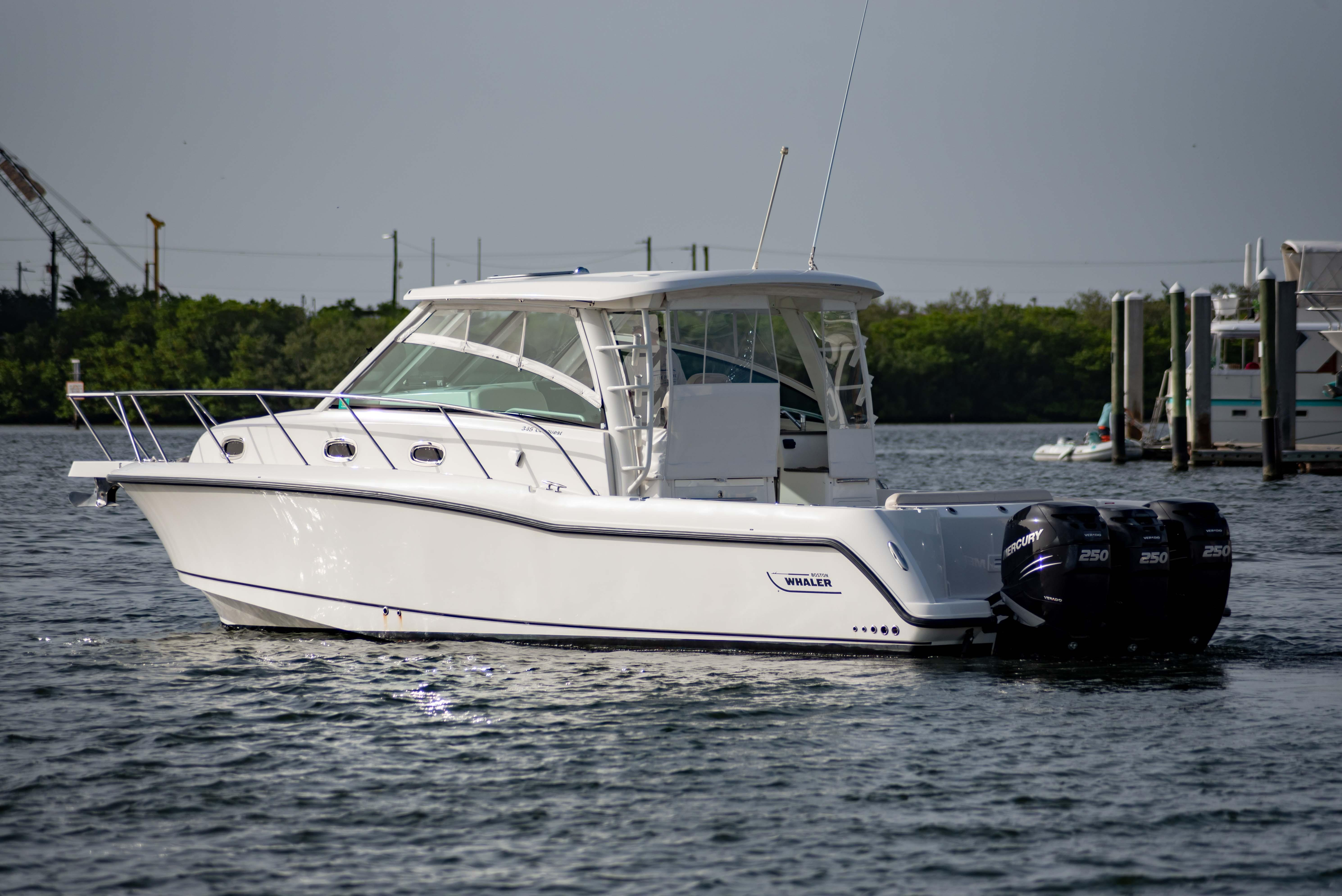 Explore the Used Boston Whaler 345 Conquest Boat and What's